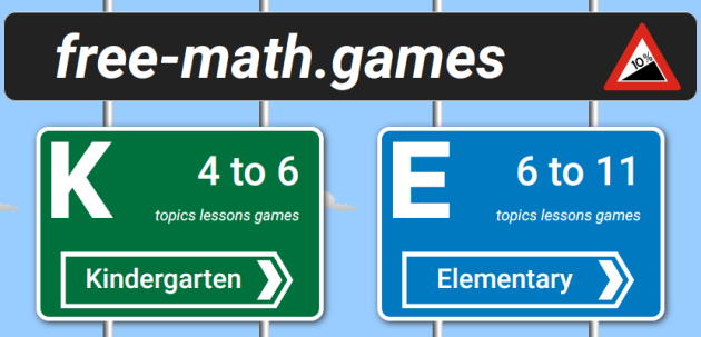 free math games website