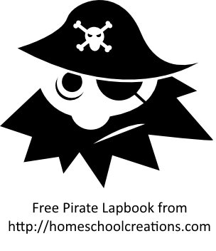 free lapbook on pirates