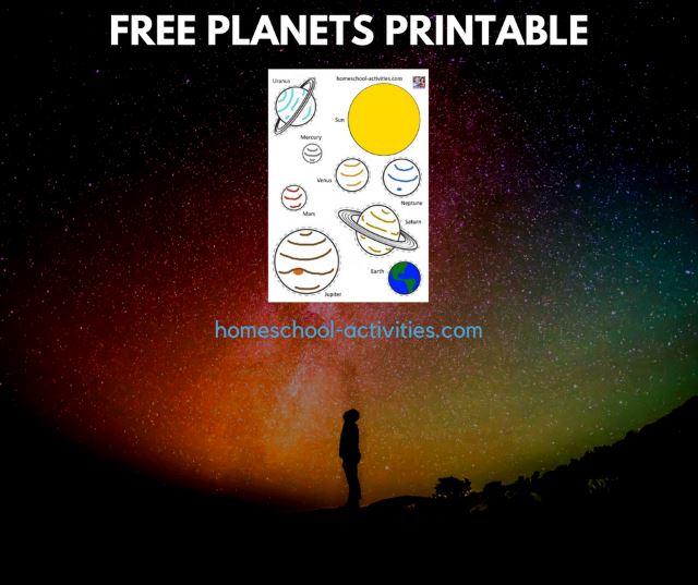 free planets printable