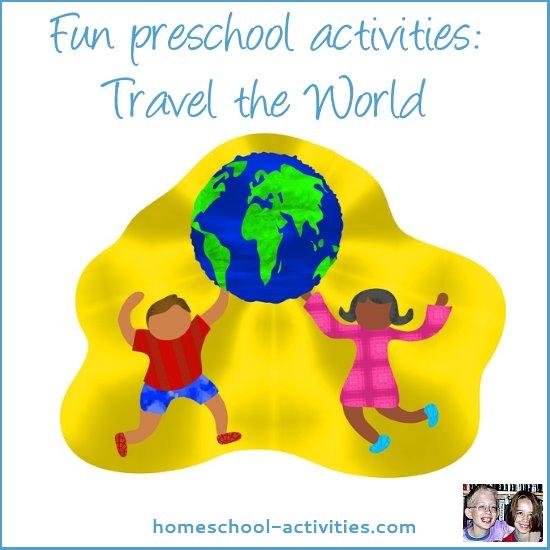 travel the world free preschool activities
