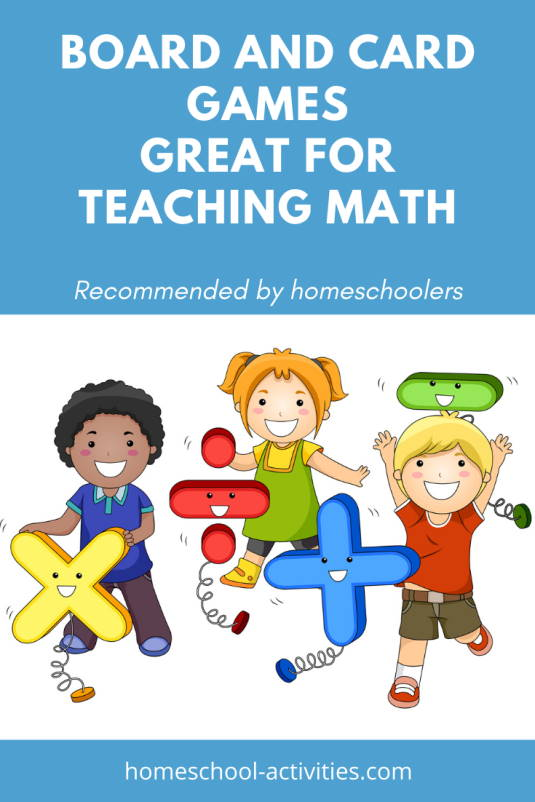 best board and card games for teaching math