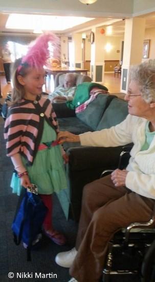 halloween visit the elderly