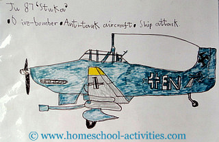 kids drawing of an airplane