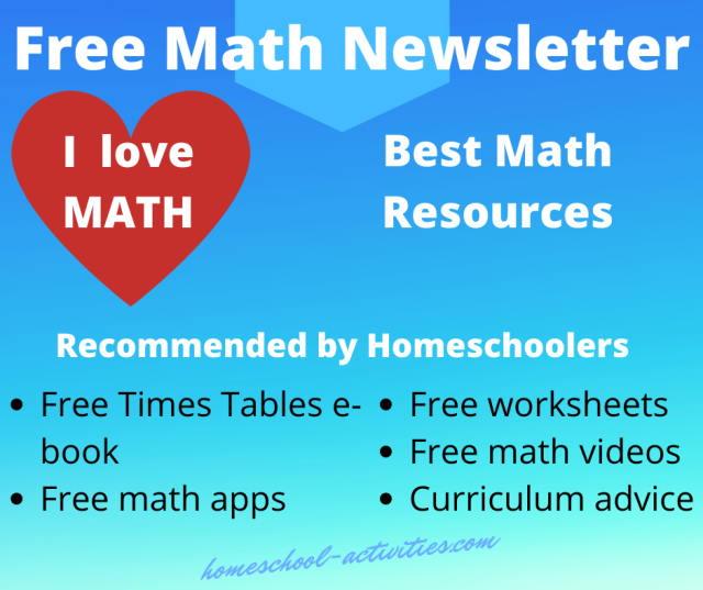 Free homeschool math newsletter