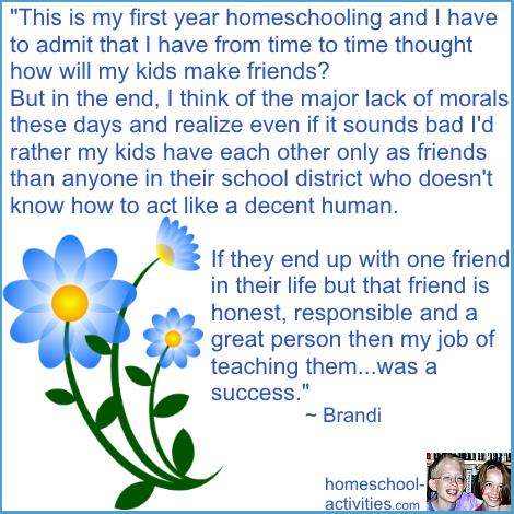 quote about homeschool and socialization