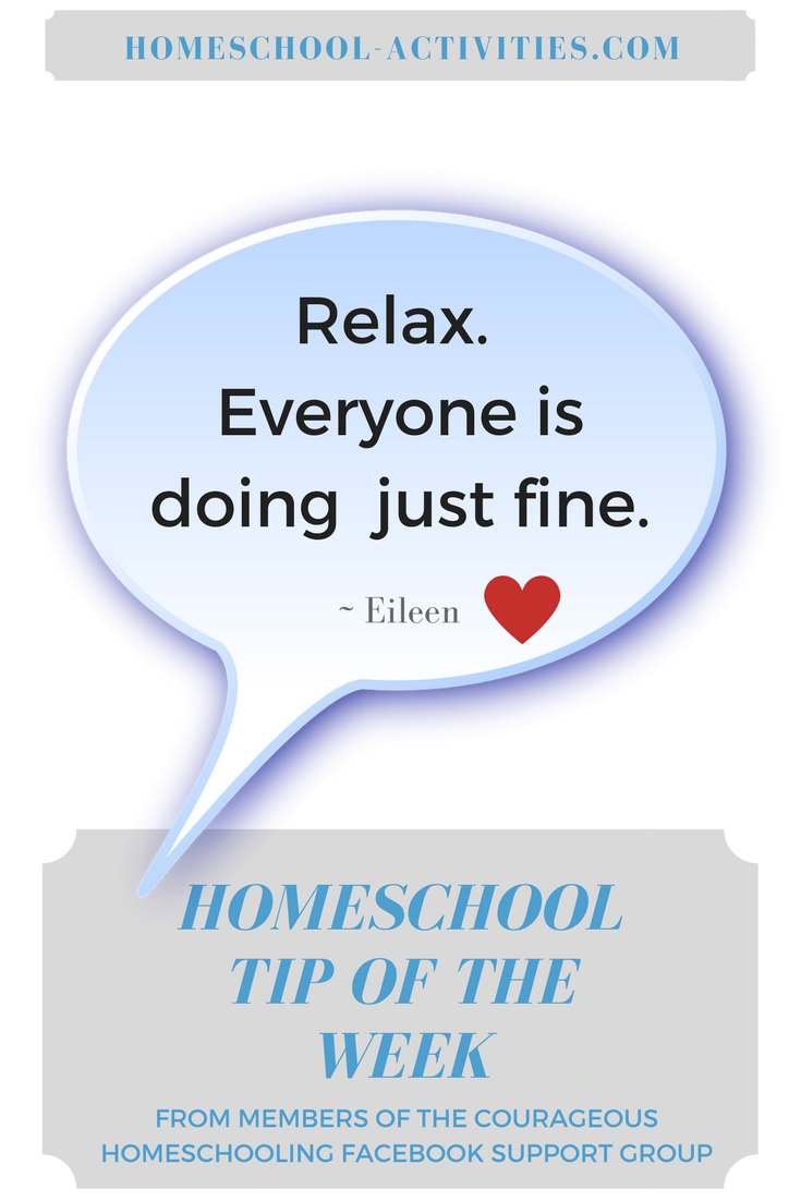 homeschool tip of the week
