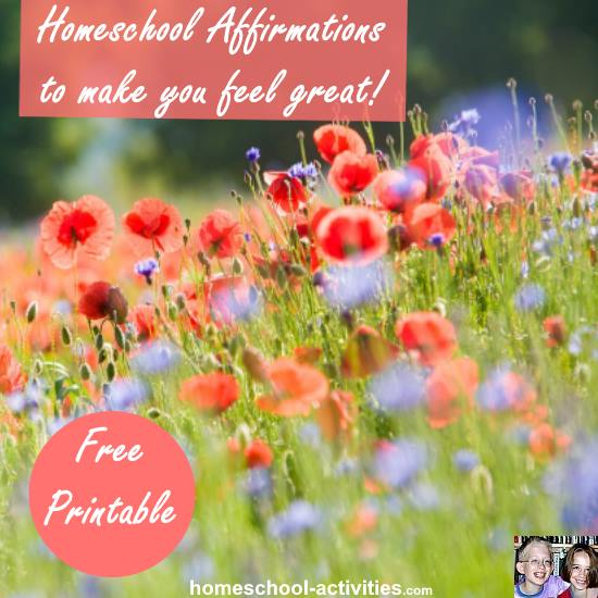 Home school affirmations