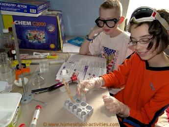 chemistry experiemnts