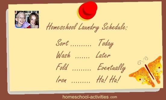 homeschool laundry schedule