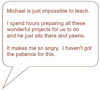 Quote about patience in homeschooling