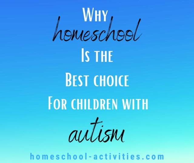 homeschooling children with autism
