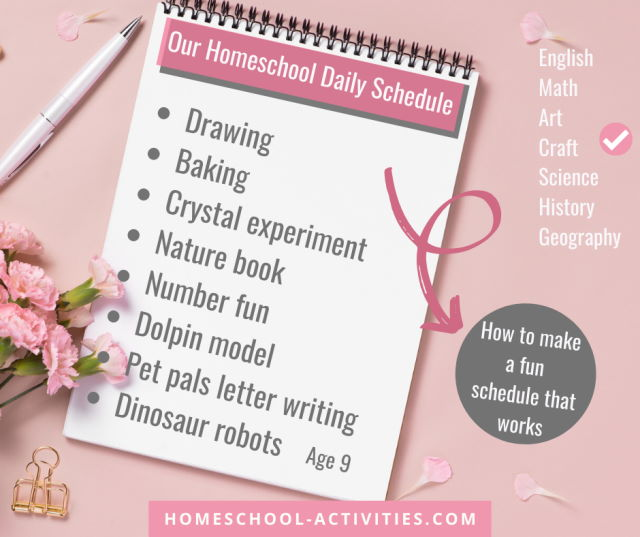 How to make a homeschool schedule