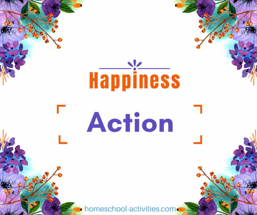 Homeschooling Happiness Challenge Action