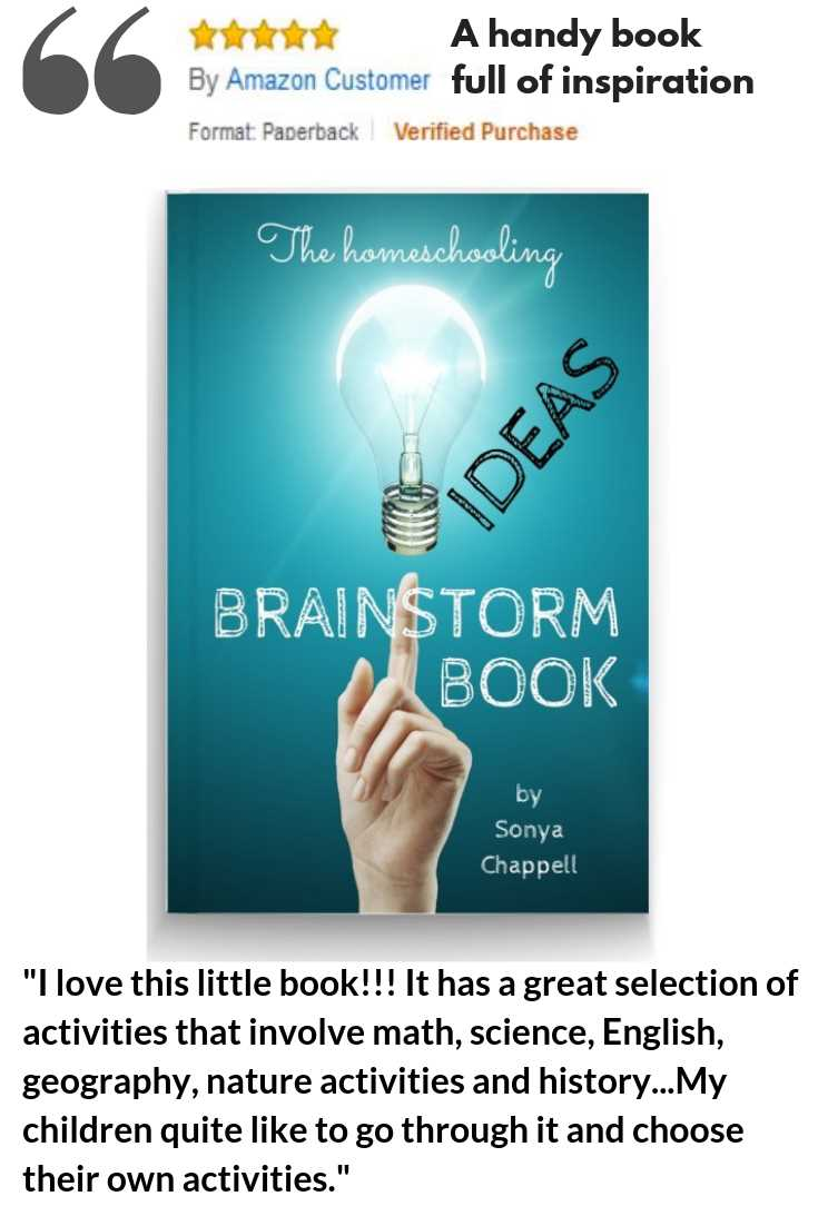 Homeschooling ideas brainstorm book witth 500+ learning activities