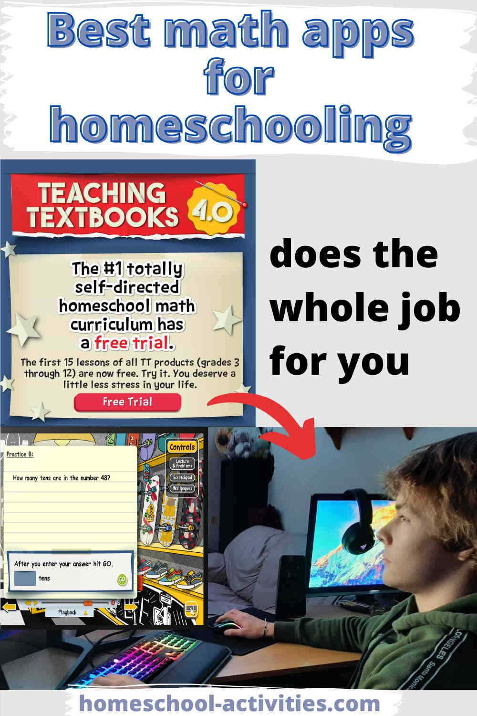 Teaching Textbooks homeschool math curriculum app