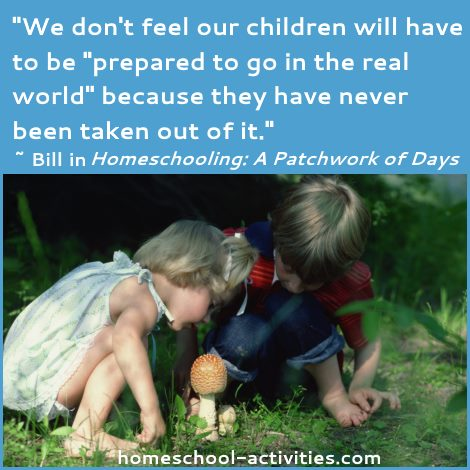 homeschool kids have never been taken out of the real world