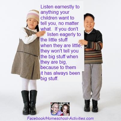 listen to the little stuff kids say