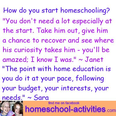 how do you start homeschooling? Answers from Janet and Sara