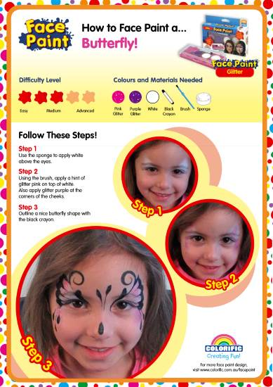 how to face paint a butterfly pdf