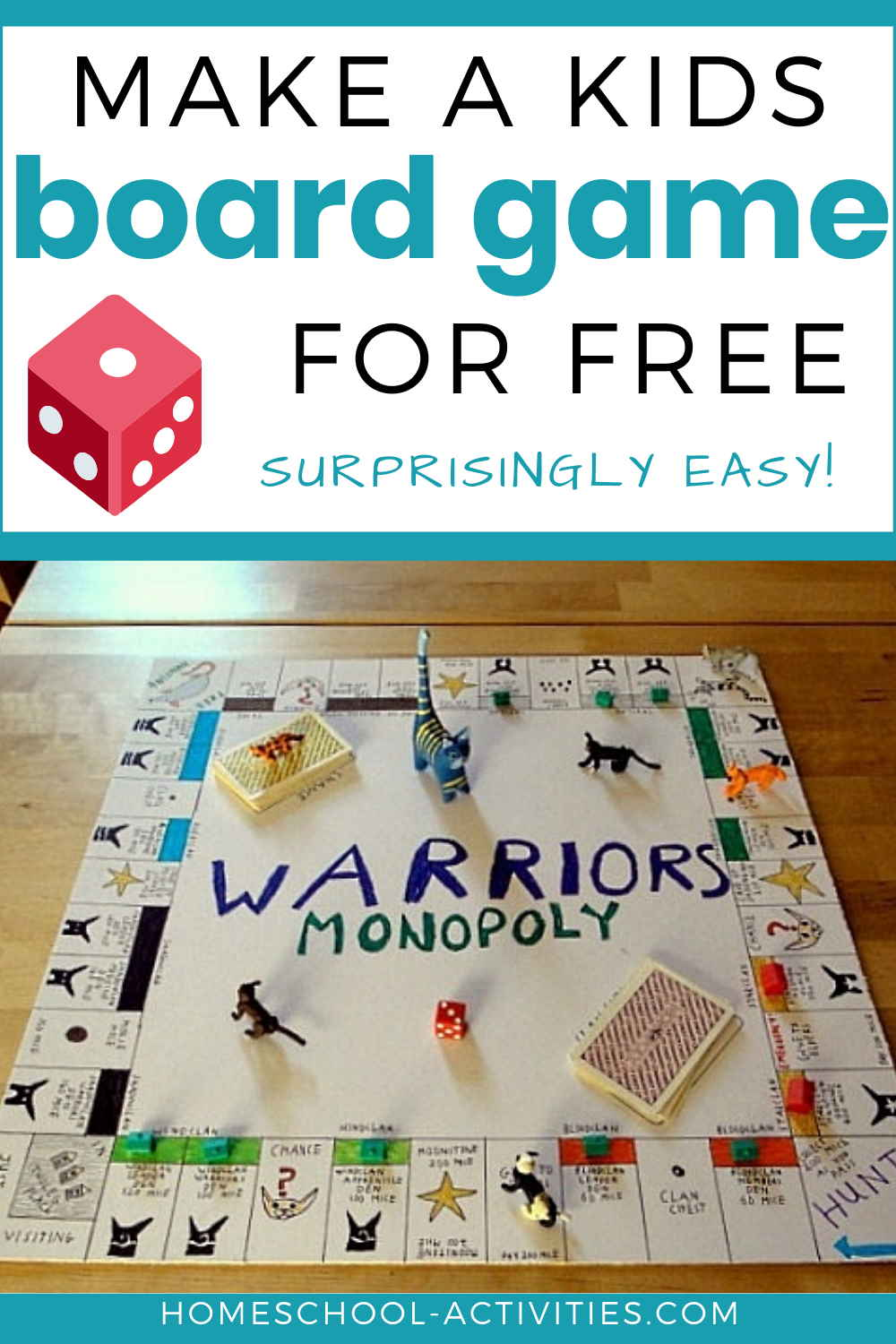 Make a kids board game for free