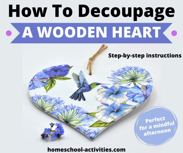 How to make a decoupage wooden heart