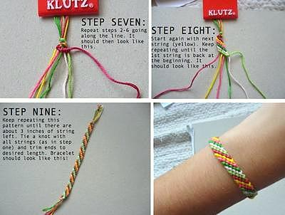 how to make friendship bracelets steps 7-9