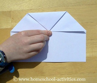 how to make paper airplanes step four