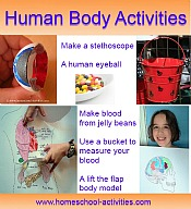 human body activities for kid