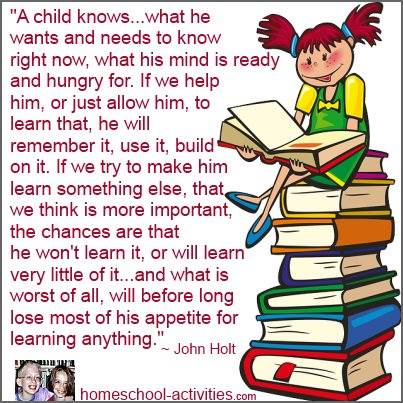 John Holt quote on how children learn.