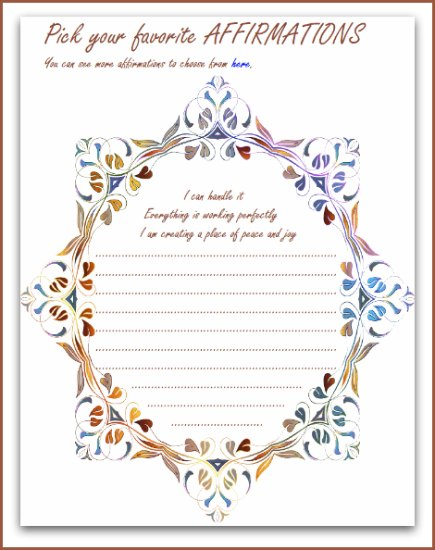 Courageous Journal affirmations