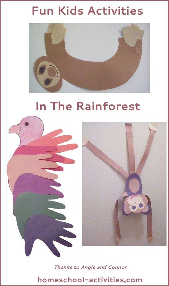 Homeschool Science Rainforest For Kids Activities