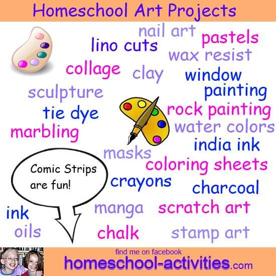 Homeschool Art Projects For Kids