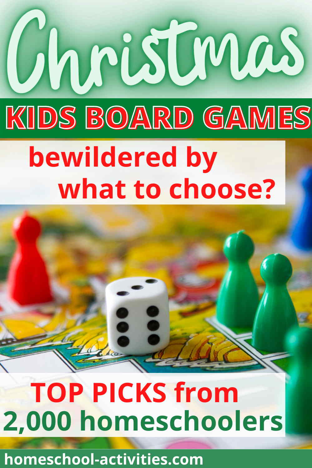 Kids board games at Christmas