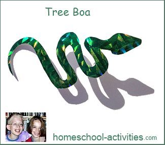 tree boa made from cardstock