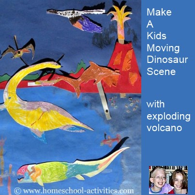 dinosaur scene for kindergarten activities