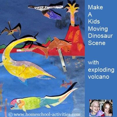kids dinosaur scene