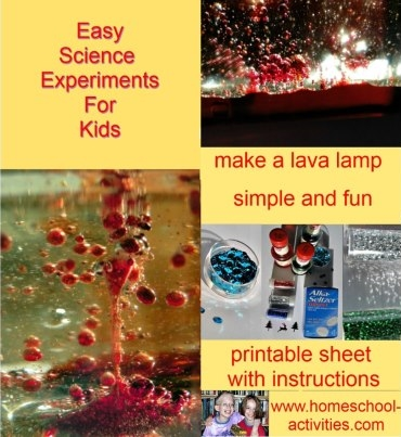 easy kids science make a lava lamp