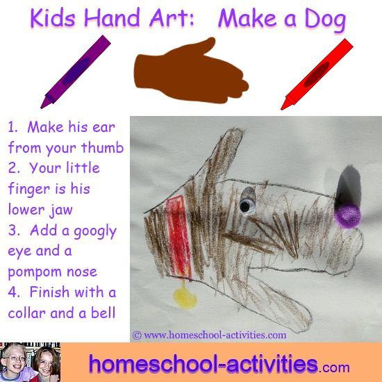 hand art dog