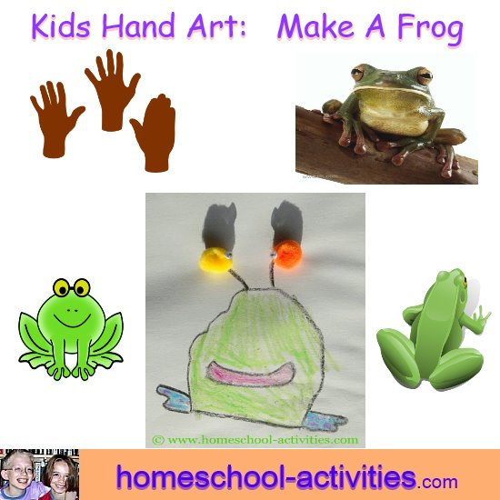hand art frog