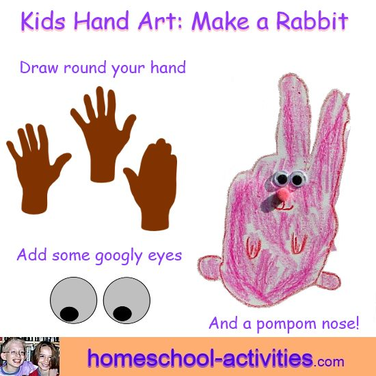 Hand art rabbit