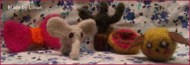 Needle felted toys made by a child