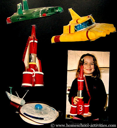 homemade Thunderbird models