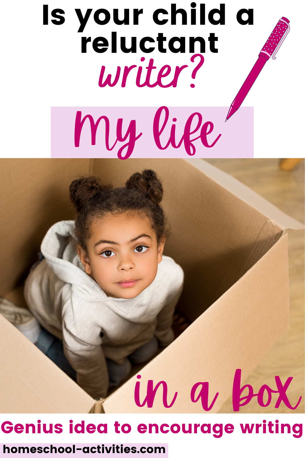 My life in a box - great kids writing activity