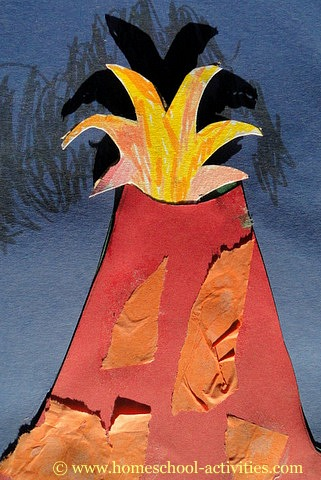 This homeschooling volcano is easy and fun for kindergarten activities ...