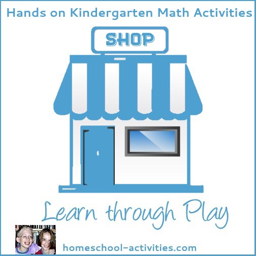 hands-on math for Kindergarten: play shop
