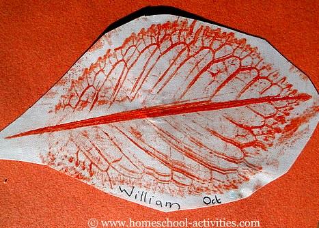 wax leaf rubbing