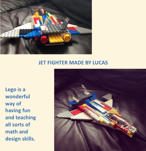 lego jet fighter made by Lucas