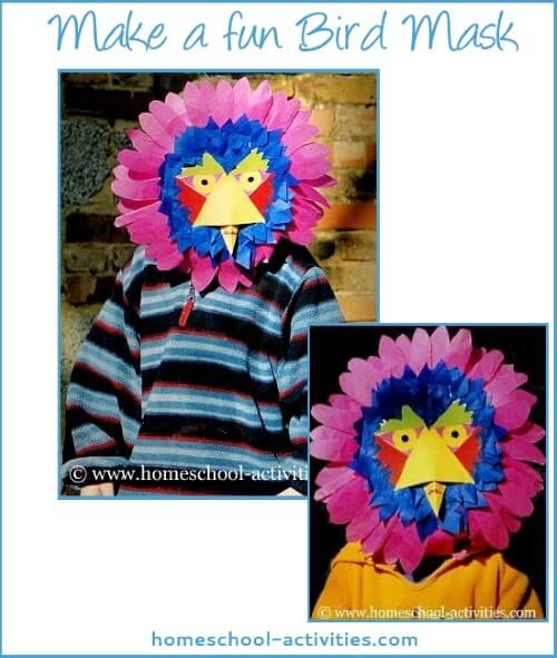 make a bird mask
