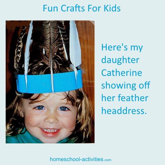 make a feather headdress