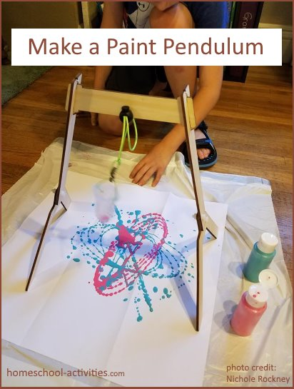 Make a paint pendulum art project